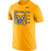 Nike Men's Pitt Panthers Gold Team Issue Logo Football T-Shirt