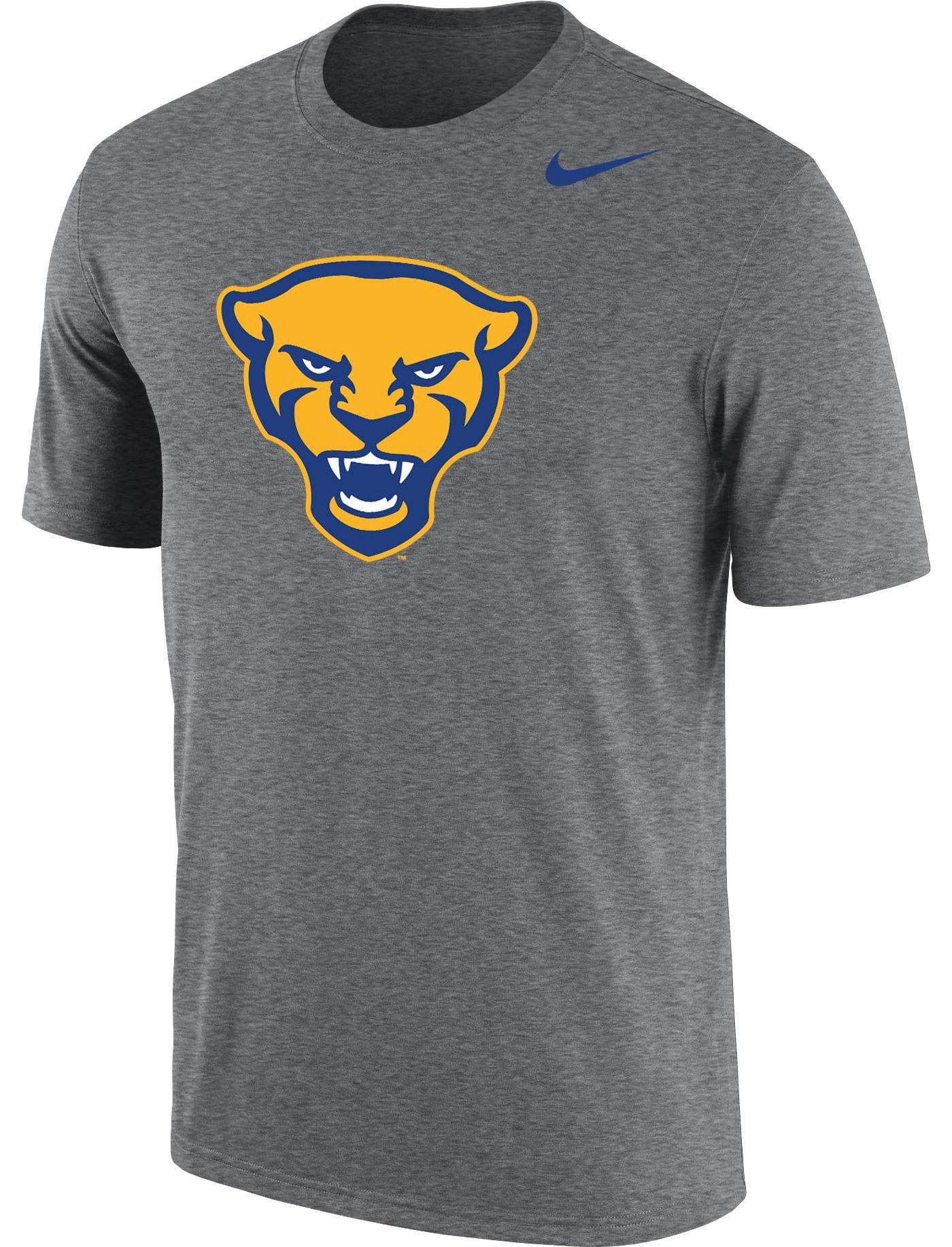 Nike Men's Pitt Panthers Grey Panther Head Logo Dri-FIT Cotton T-Shirt