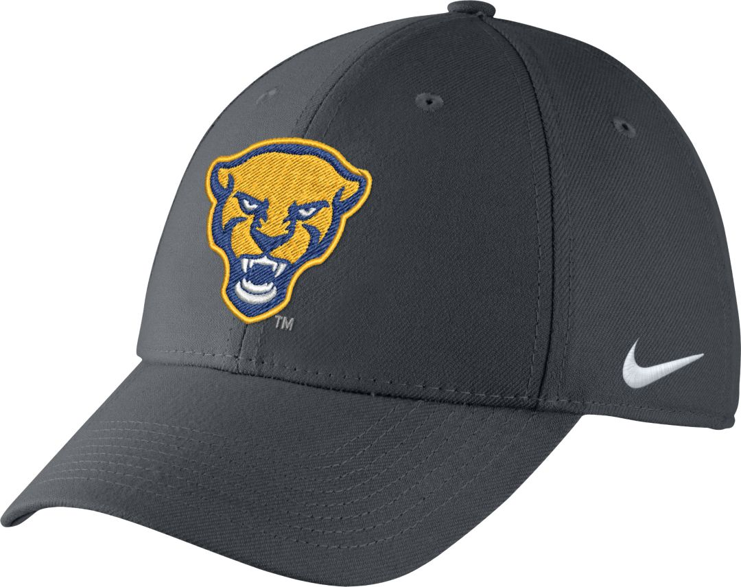 great look new arrival cheapest Nike Men's Pitt Panthers Grey Swoosh Flex Hat
