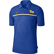 Nike Men's Pitt Panthers Blue Dri-FIT Football Sideline Polo