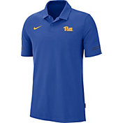 Nike Men's Pitt Panthers Blue Elevated Flex On-Field Performance Polo