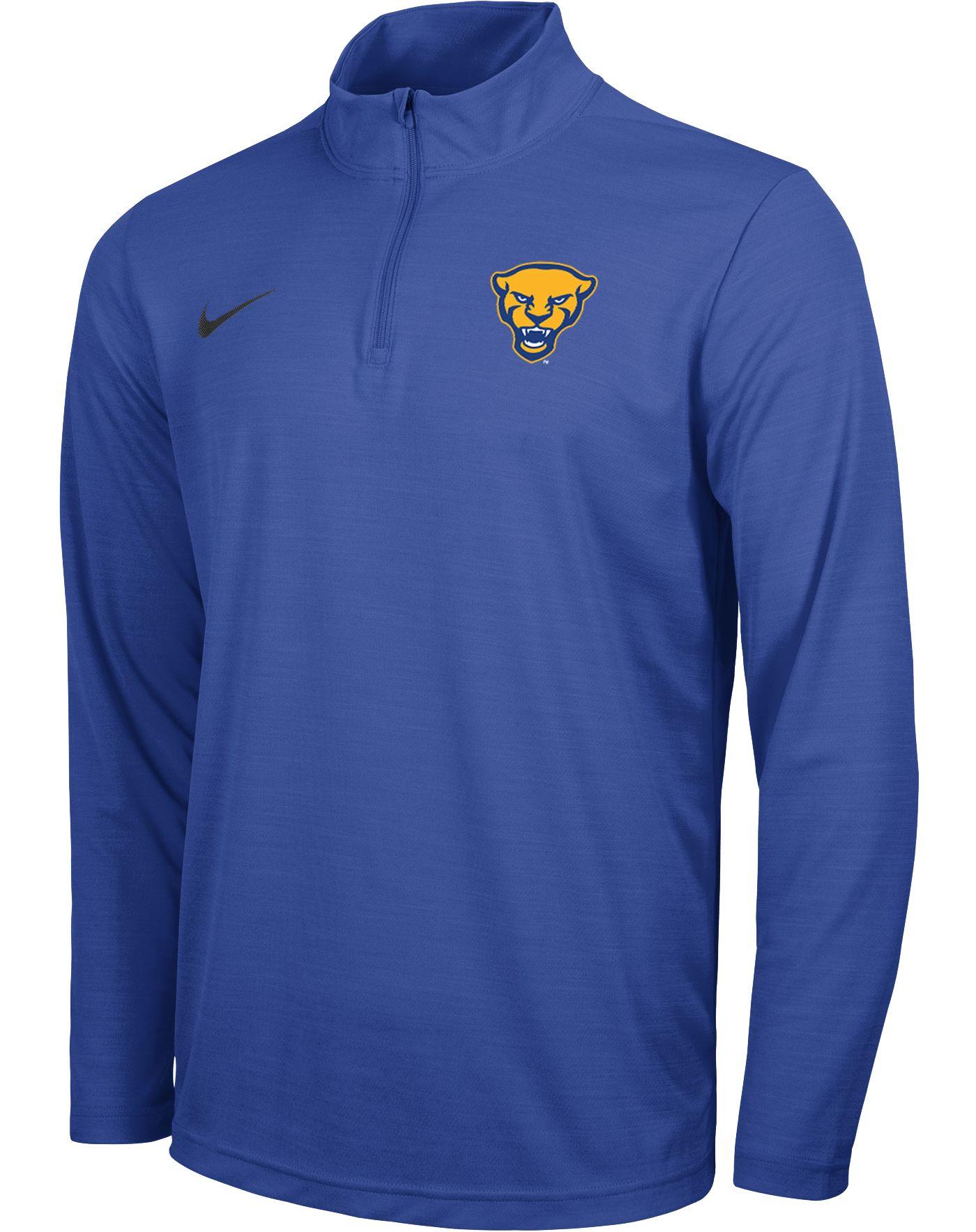 Nike Men's Pitt Panthers Blue Intensity Quarter-Zip Top