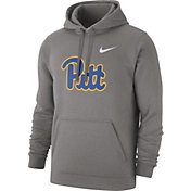 Nike Men's Pitt Panthers Grey Club Fleece Pullover Hoodie