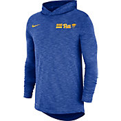 Nike Men's Pitt Panthers Blue Dri-FIT Slub Long Sleeve Hooded T-Shirt