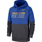 Nike Men's Pitt Panthers Blue/Grey Therma-FIT Sideline Football Hoodie