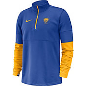 Nike Men's Pitt Panthers Blue Football Sideline Half-Zip Shirt
