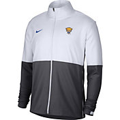 Nike Men's Pitt Panthers White/Grey Football Sideline Full-Zip Jacket