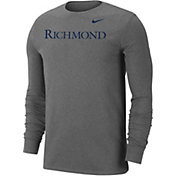 Nike Men's Richmond Spiders Grey Wordmark Long Sleeve T-Shirt