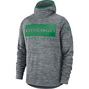 Nike Men's Oregon Ducks Grey Spotlight Pullover Basketball Hoodie