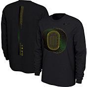 Nike Men's Oregon Ducks Football 20th Anniversary of the 'O' Black Long Sleeve T-Shirt