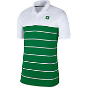 Nike Men's Oregon Ducks White/Green Striped Polo