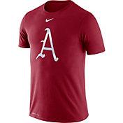 Nike Men's Arkansas Razorbacks Cardinal Dri-FIT Legend Baseball T-Shirt