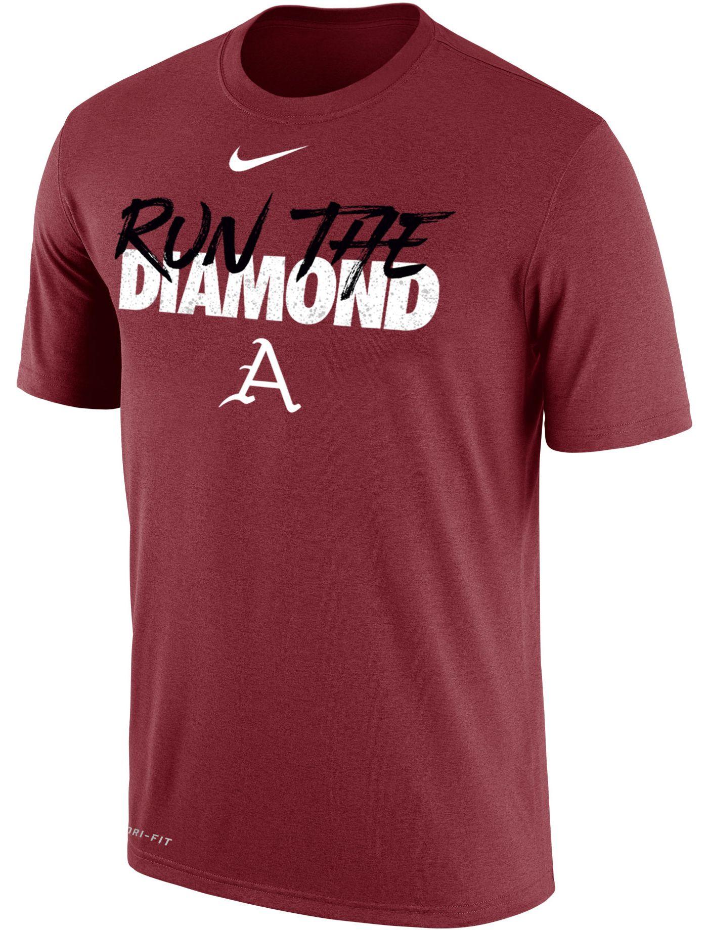 Nike Men's Arkansas Razorbacks Cardinal 2019 Men's College World Series Energy T-Shirt