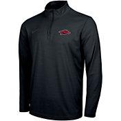 Nike Men's Arkansas Razorbacks Intensity Quarter-Zip Black Shirt