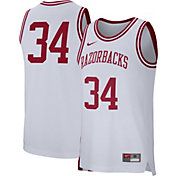Nike Men's Arkansas Razorbacks #34 Replica Retro Basketball White Jersey