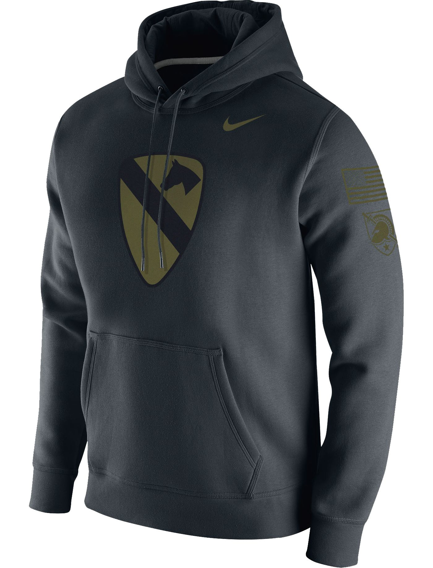 Nike Men's Army West Point Black Knights Rivalry Pullover Black Hoodie
