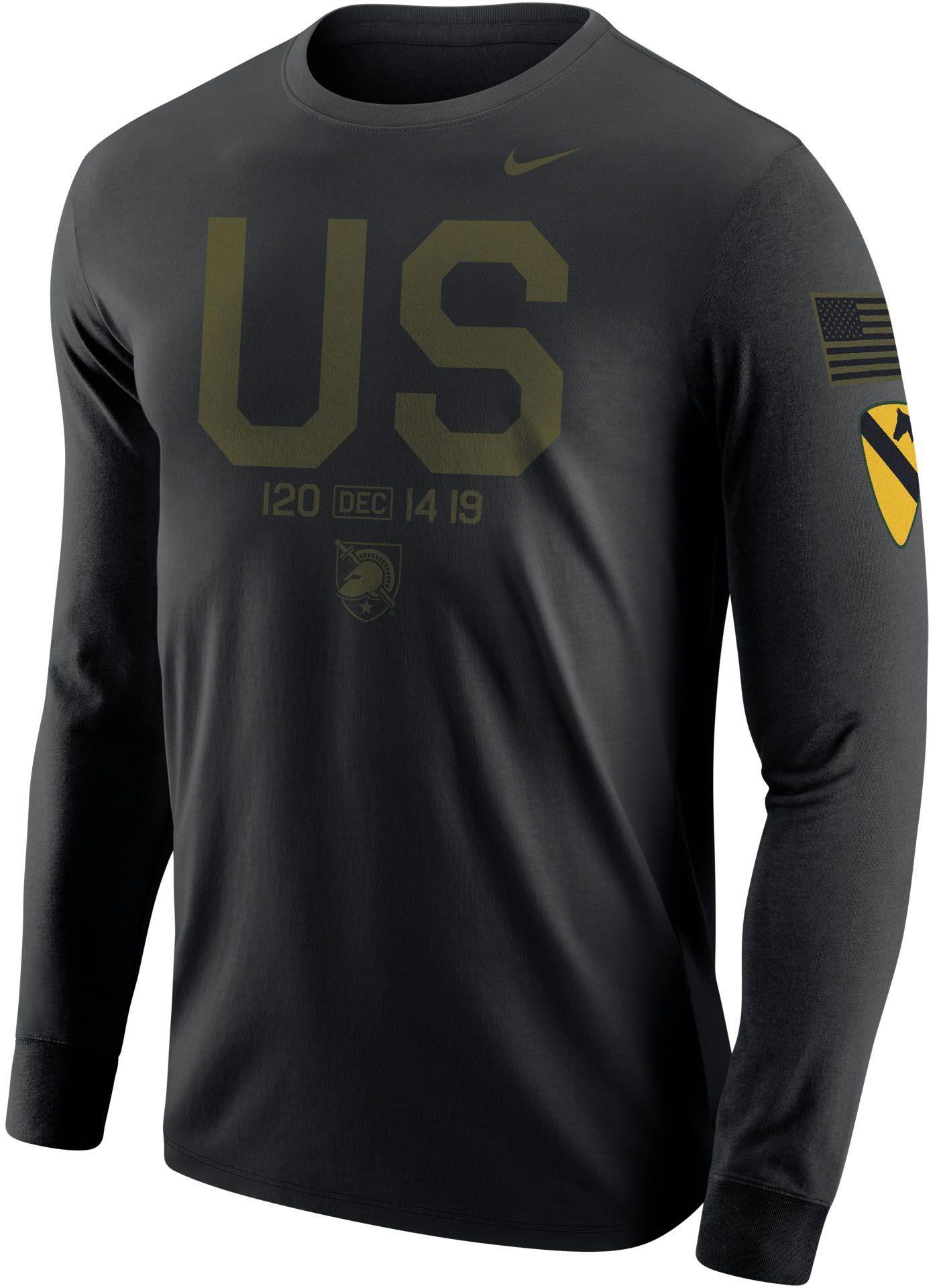 Nike Men's Army West Point Black Knights Dri-FIT Rivalry Football Long Sleeve Black T-Shirt