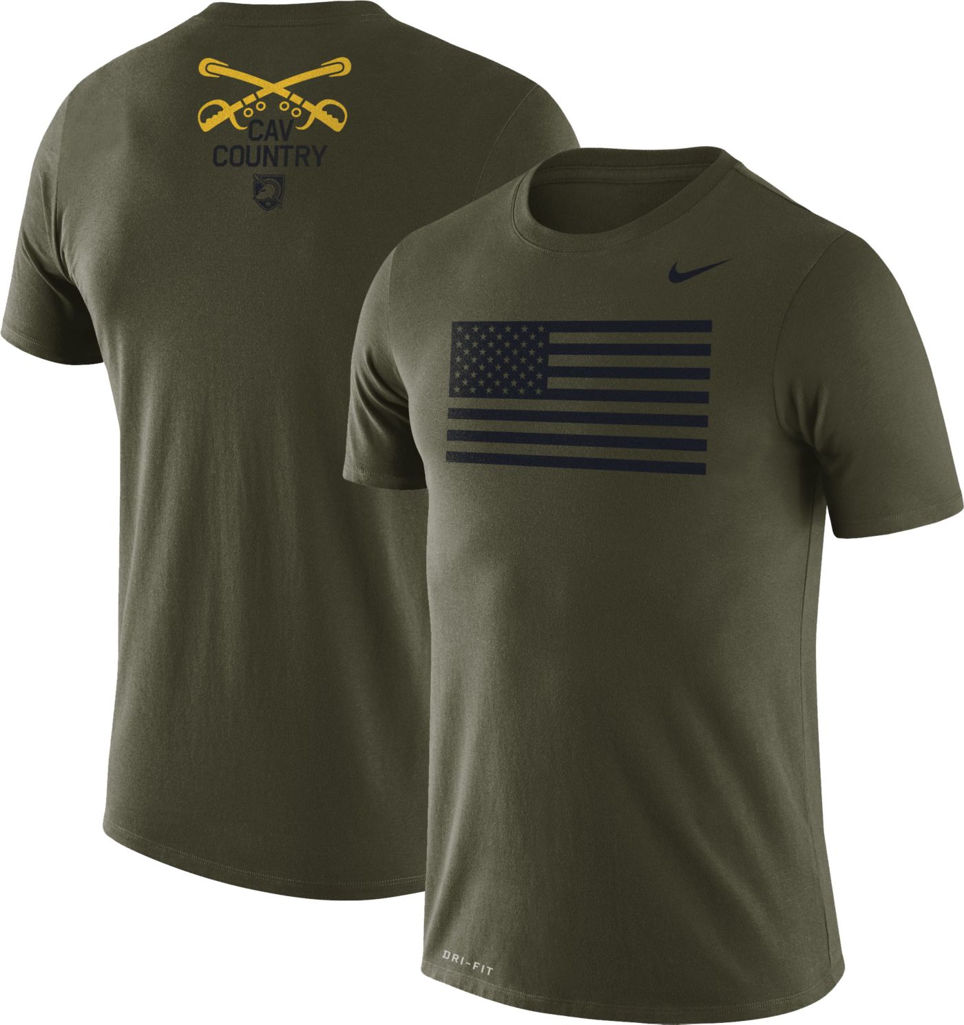 Nike Men's Army West Point Black Knights Green Dri-FIT Rivalry Football T-Shirt