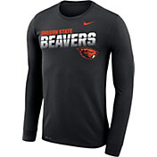 Nike Men's Oregon State Beavers Legend Football Sideline Long Sleeve Black T-Shirt