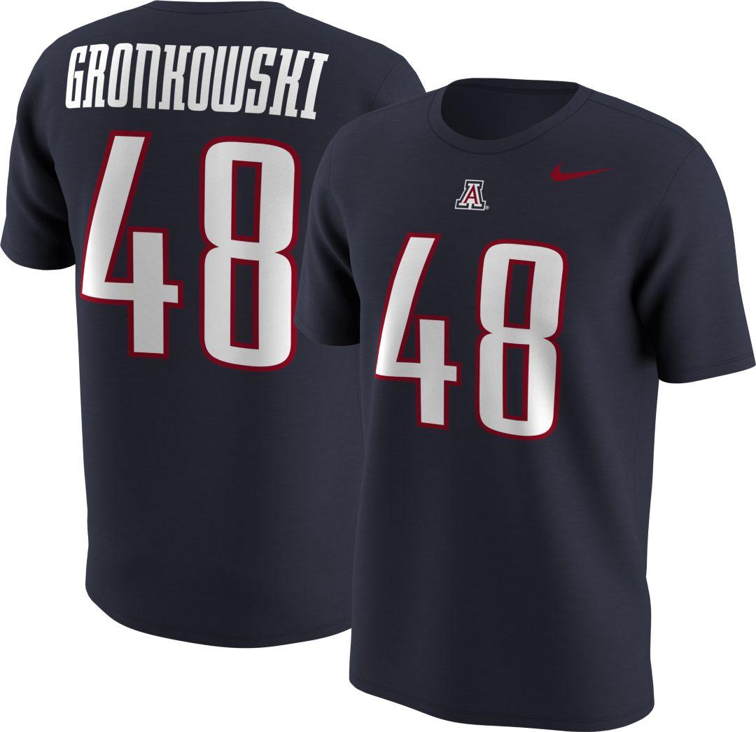 newest 711e6 da7b8 Nike Men's Arizona Wildcats Rob Gronkowski #48 Navy Football Jersey T-Shirt