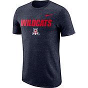 Nike Men's Arizona Wildcats Navy Marled Logo T-Shirt
