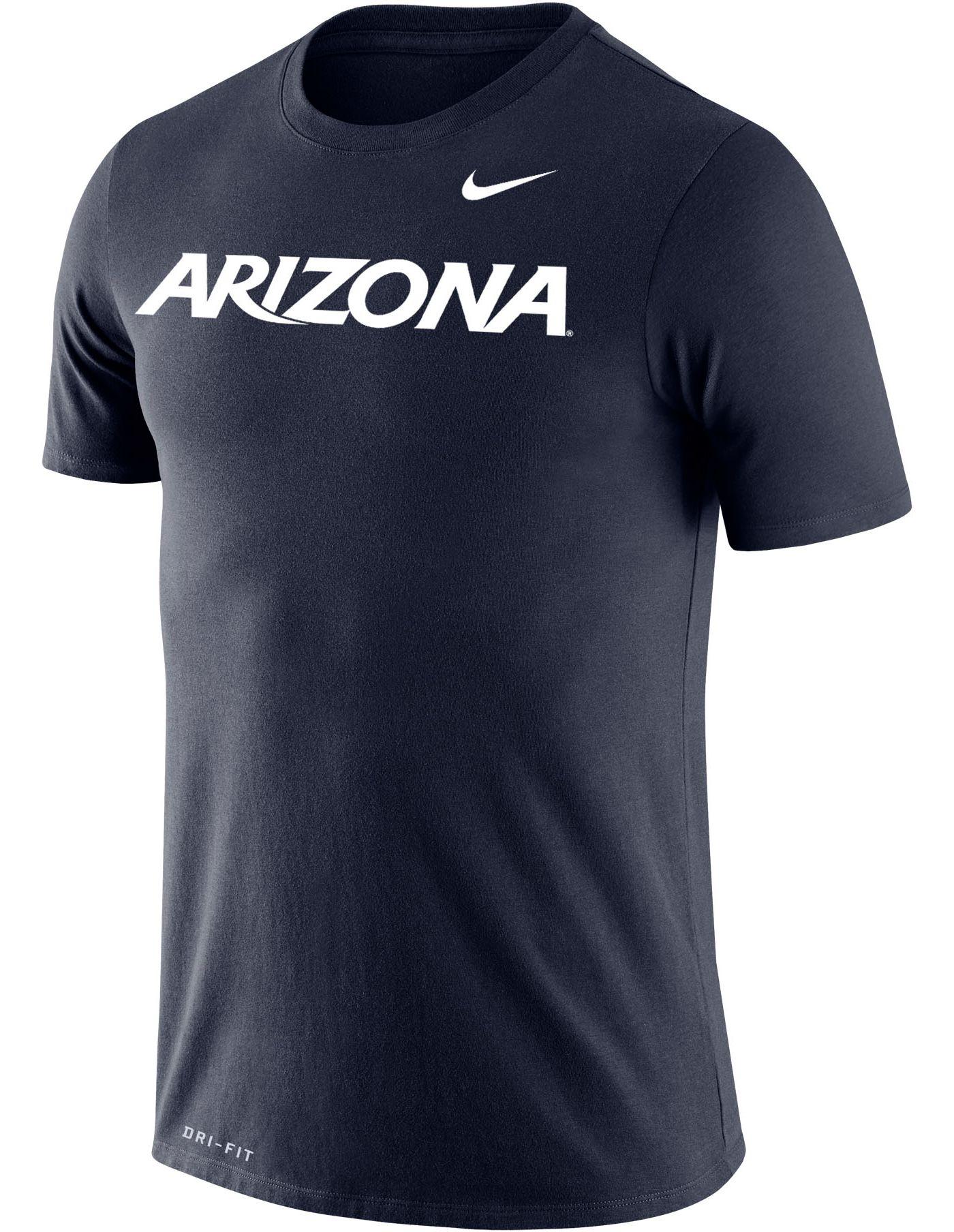 Nike Men's Arizona Wildcats Navy Dri-FIT Cotton Word T-Shirt