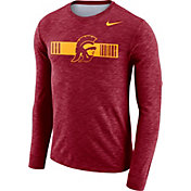 Nike Men's USC Trojans Cardinal Dri-FIT Cotton Slub Logo Long Sleeve T-Shirt