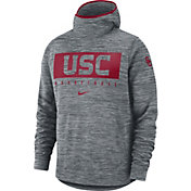 Nike Men's USC Trojans Grey Spotlight Pullover Basketball Hoodie