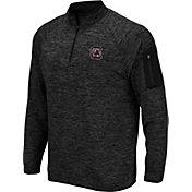 Colosseum Men's South Carolina Gamecocks Quarter-Zip Black Shirt
