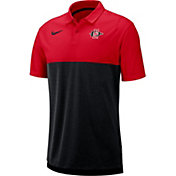 Nike Men's San Diego State Aztecs Scarlet/Black Dri-FIT Breathe Football Sideline Polo