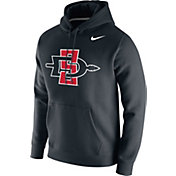 Nike Men's San Diego State Aztecs Club Fleece Pullover Black Hoodie