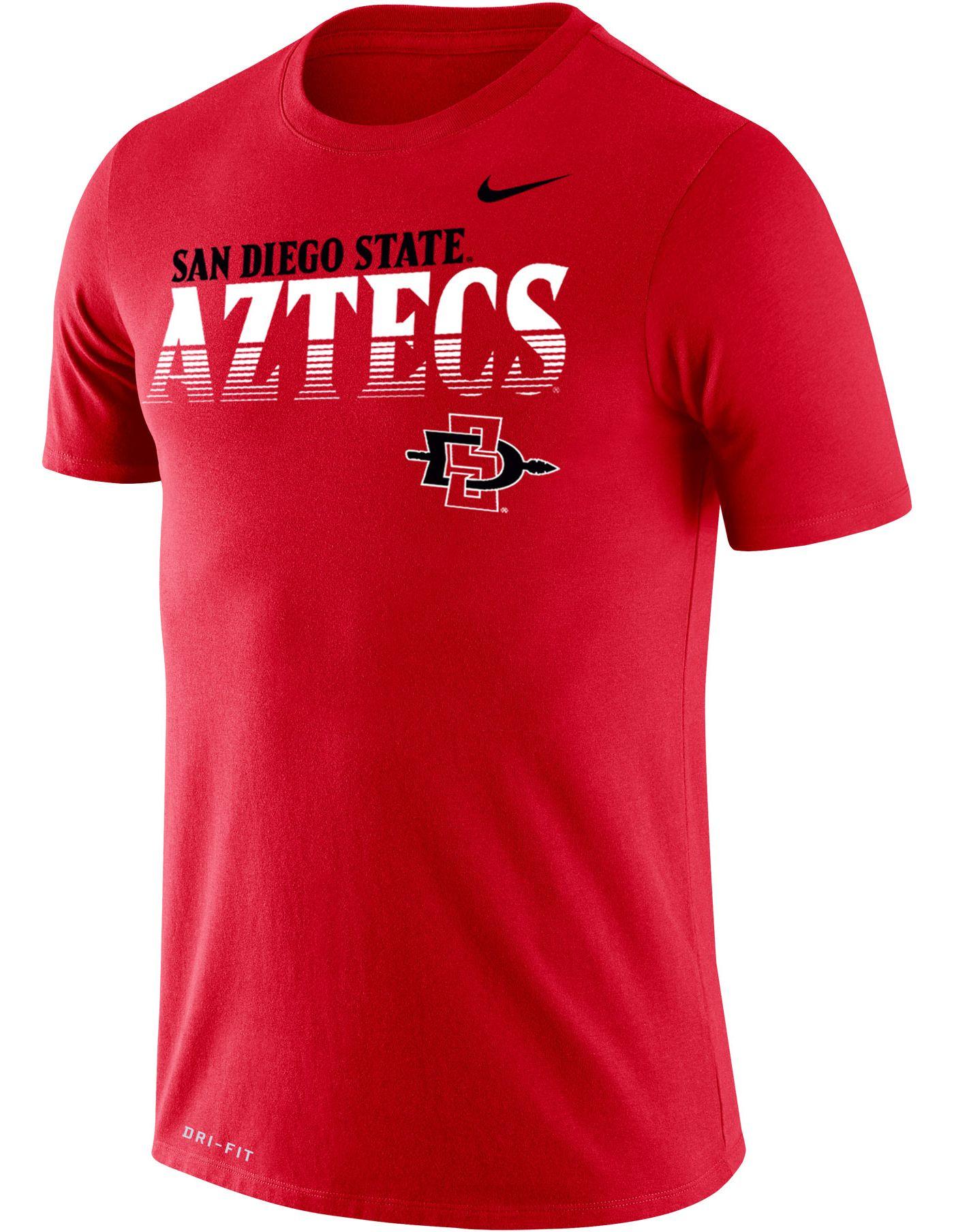 Nike Men's San Diego State Aztecs Scarlet Legend Football Sideline T-Shirt