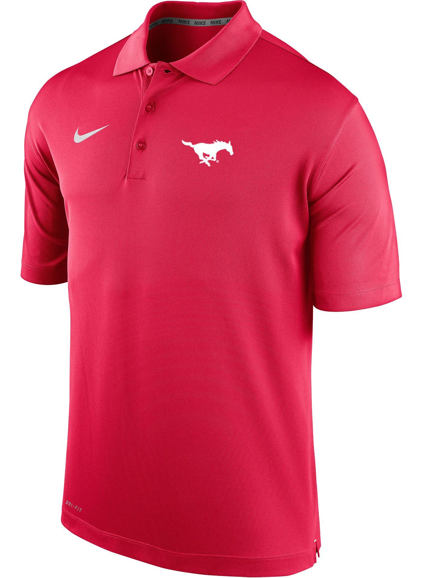 Nike Men's Southern Methodist Mustangs Red Varsity Polo