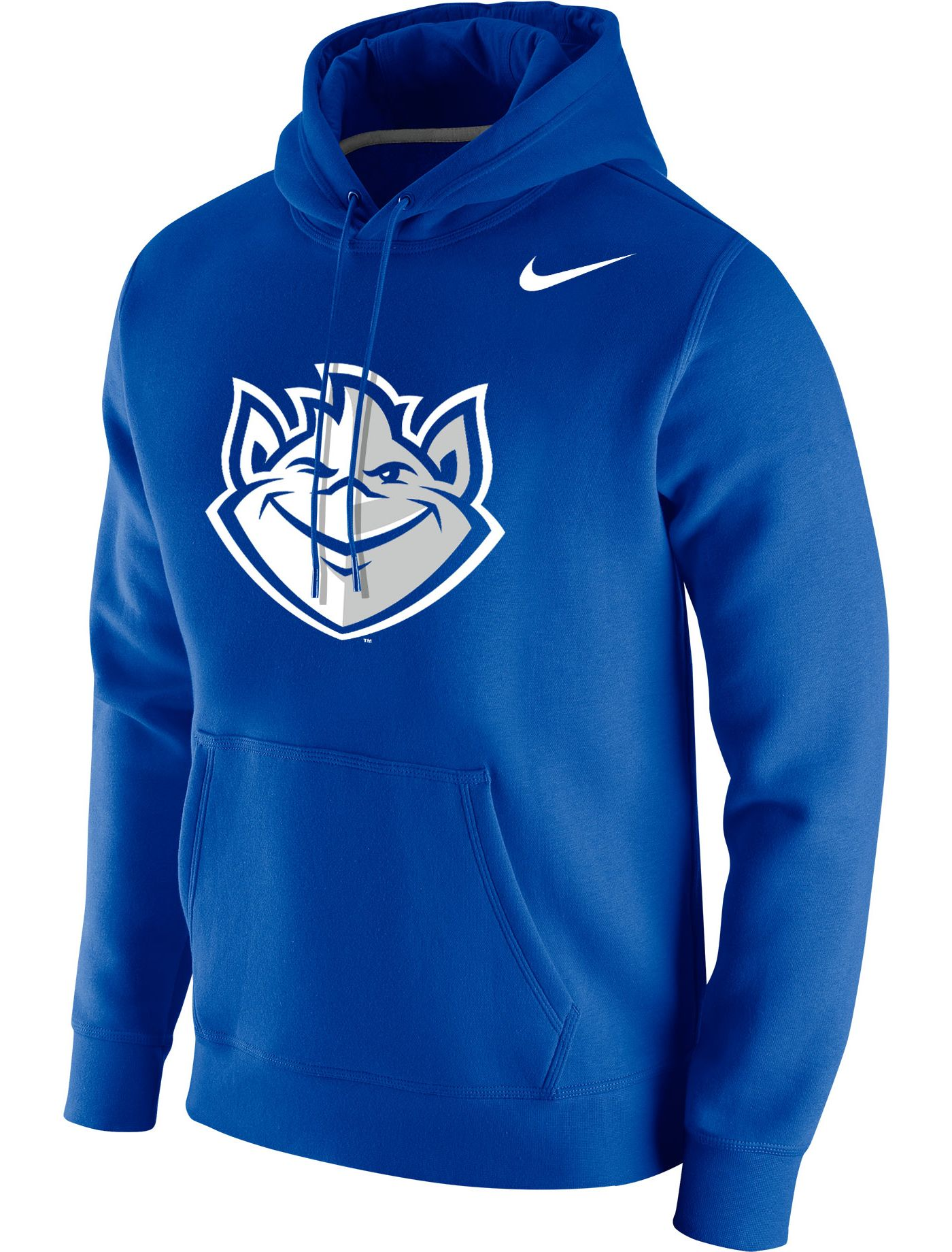 Nike Men's Saint Louis Billikens Blue Club Fleece Pullover Hoodie