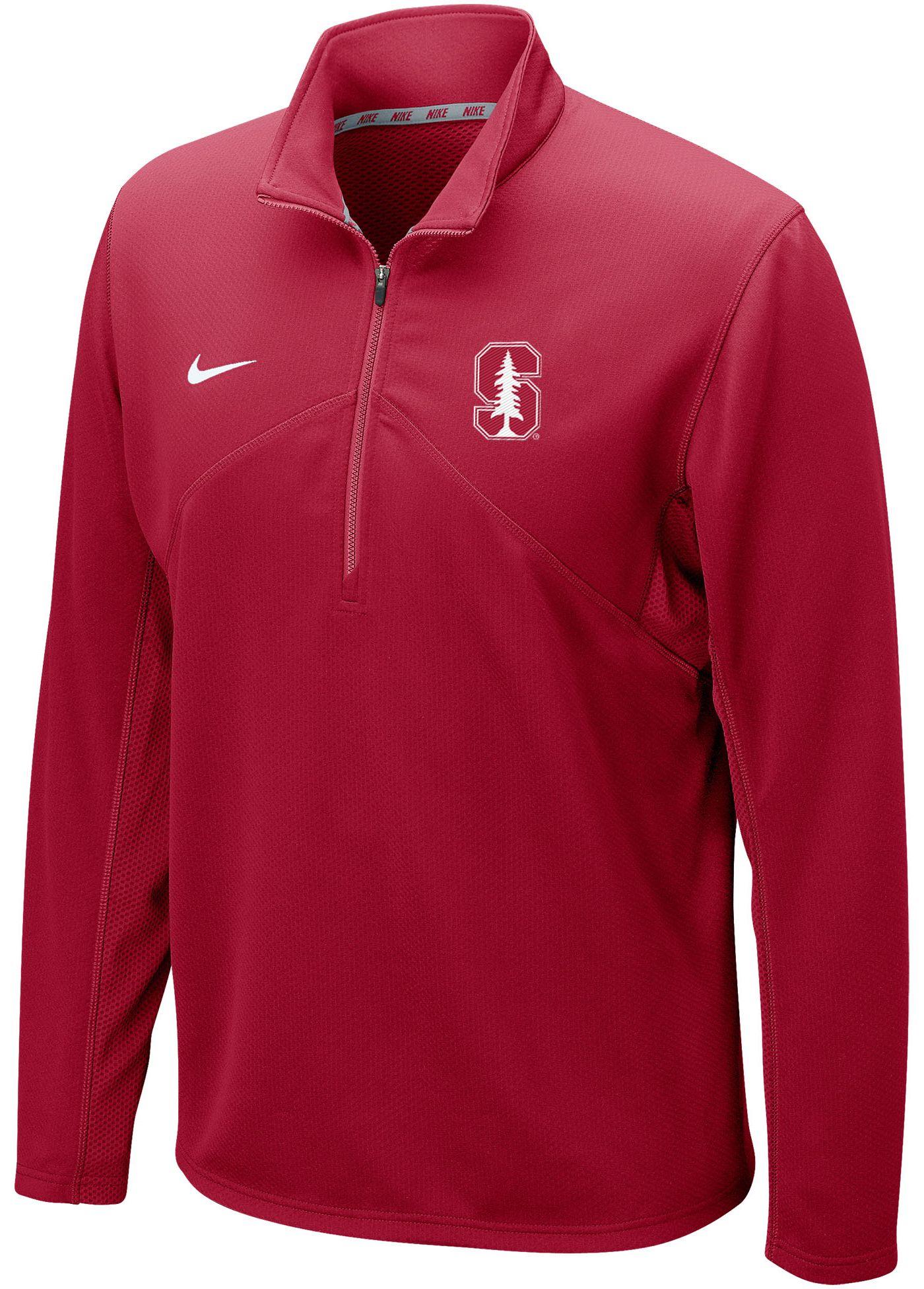 Nike Men's Stanford Cardinal Dri-FIT Training Quarter-Zip Cardinal Shirt