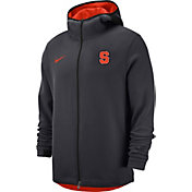 Nike Men's Syracuse Orange Grey Dri-FIT Showtime Full-Zip Hoodie