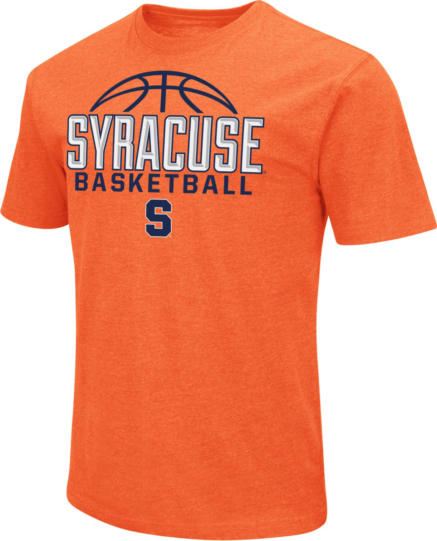 Colosseum Men's Syracuse Orange Orange Dual Blend Basketball T-Shirt