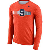 Nike Men's Syracuse Orange Orange Dri-FIT Cotton Slub Logo Long Sleeve T-Shirt