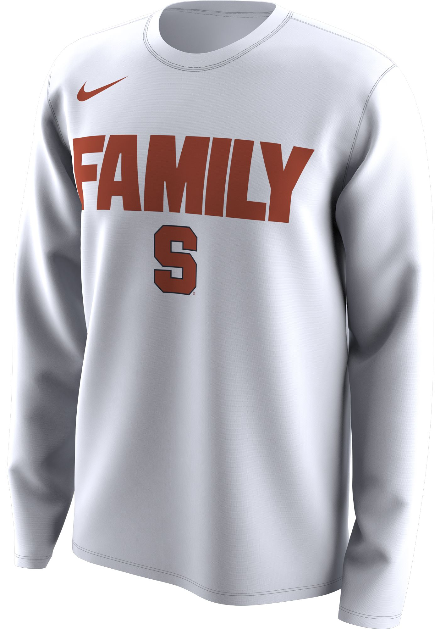 Nike Men's Syracuse Orange 'Family' Bench Long Sleeve White T-Shirt