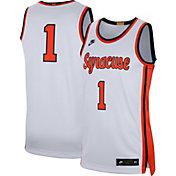 Nike Men's Syracuse Orange #1 Limited Retro Basketball White Jersey