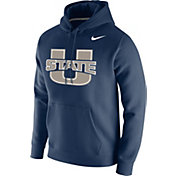 Nike Men's Utah State Aggies Blue Club Fleece Pullover Hoodie