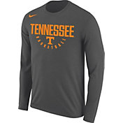 Nike Men's Tennessee Volunteers Grey Dri-FIT Legend 2.0 Long Sleeve Basketball T-Shirt