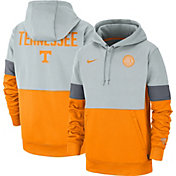 Nike Men's Tennessee Volunteers Grey/Tennessee Orange Rivalry Therma Football Sideline Pullover Hoodie