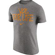 Nike Men's Tennessee Volunteers Grey 'Vol For Life' Tri-Blend Verbiage T-Shirt