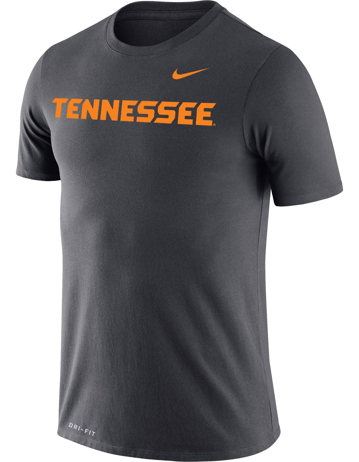 Nike Men's Tennessee Volunteers Grey Dri-FIT Cotton Word T-Shirt