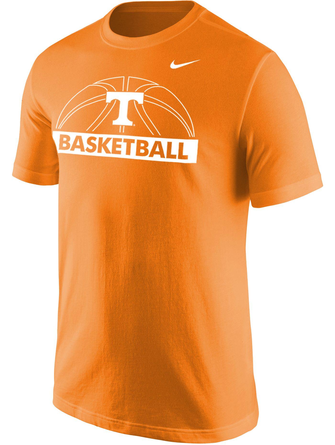 Nike Men's Tennessee Volunteers Tennessee Orange Dri-FIT Cotton Basketball T-Shirt