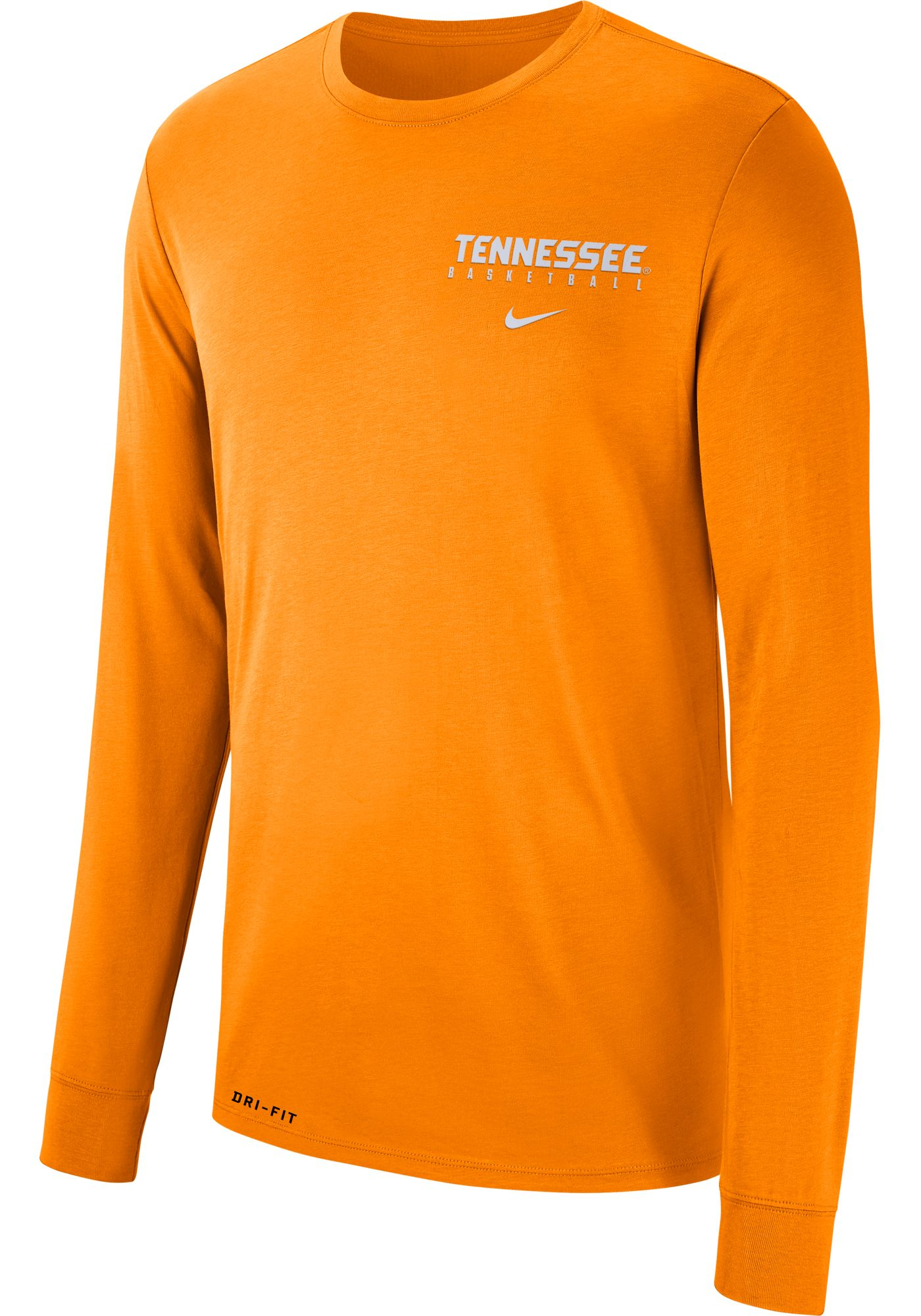 Nike Men's Tennessee Volunteers Tennessee Orange Dri-FIT Cotton Basketball Long Sleeve T-Shirt