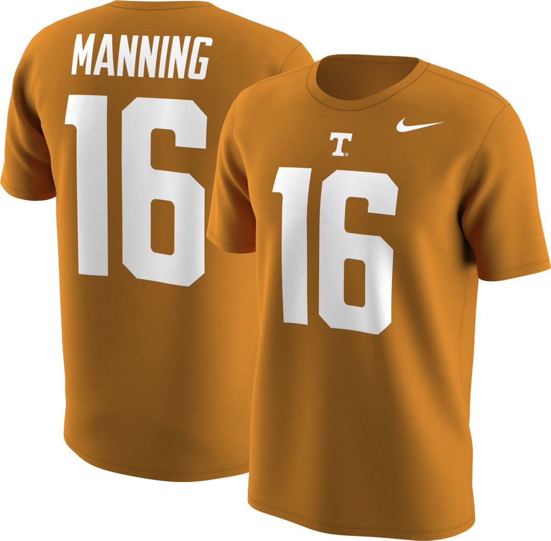 cheap for discount f37a2 a55e8 Nike Men's Tennessee Volunteers Peyton Manning #16 Tennessee Orange  Football Jersey T-Shirt