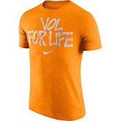 Nike Men's Tennessee Volunteers Tennessee Orange 'Vol For Life' Tri-Blend Verbiage T-Shirt