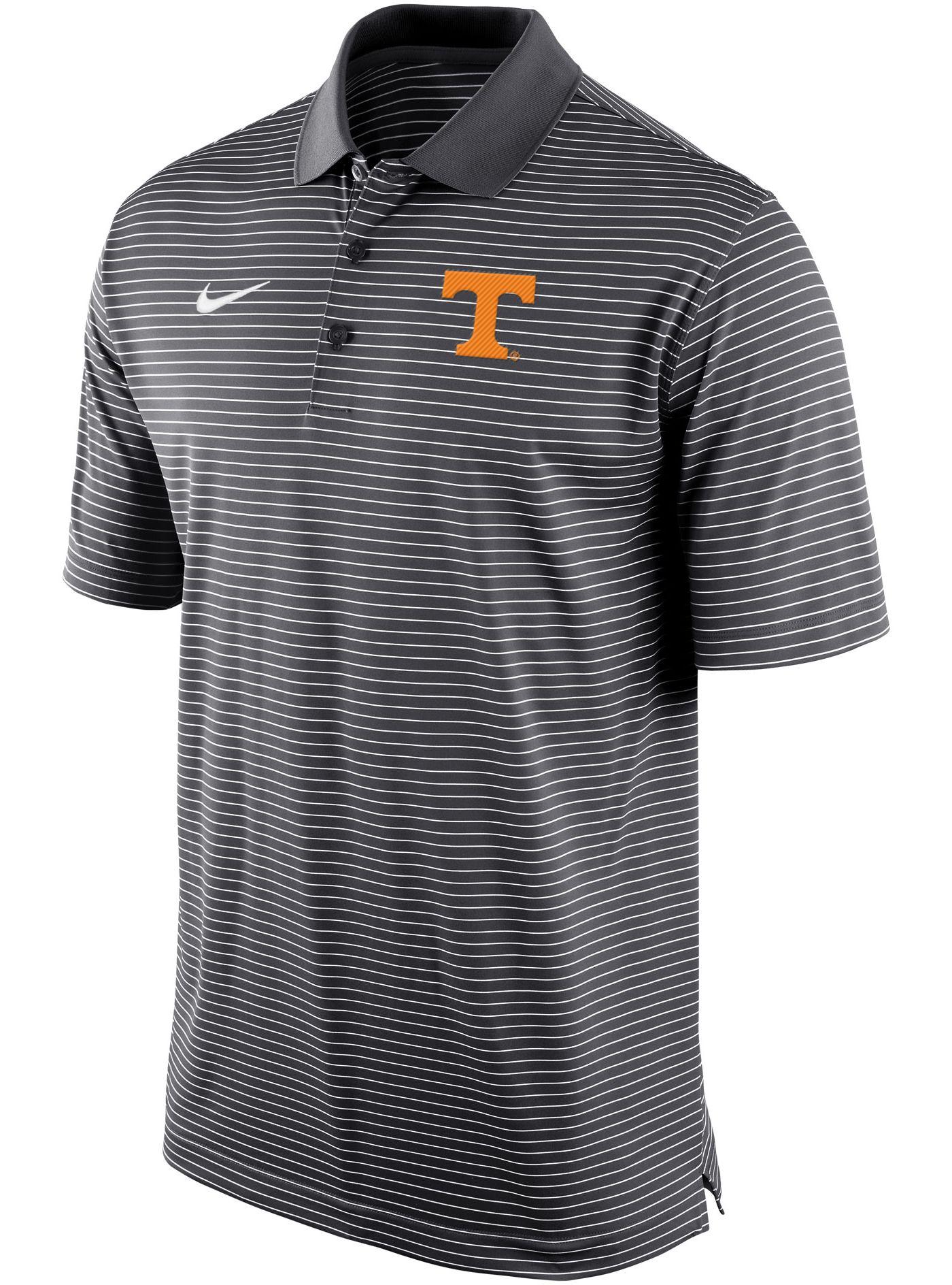 Nike Men's Tennessee Volunteers Grey Stadium Striped Polo